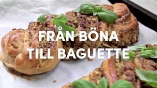 Baka med bönor – dinkelbaguette av Lina Wallentinson