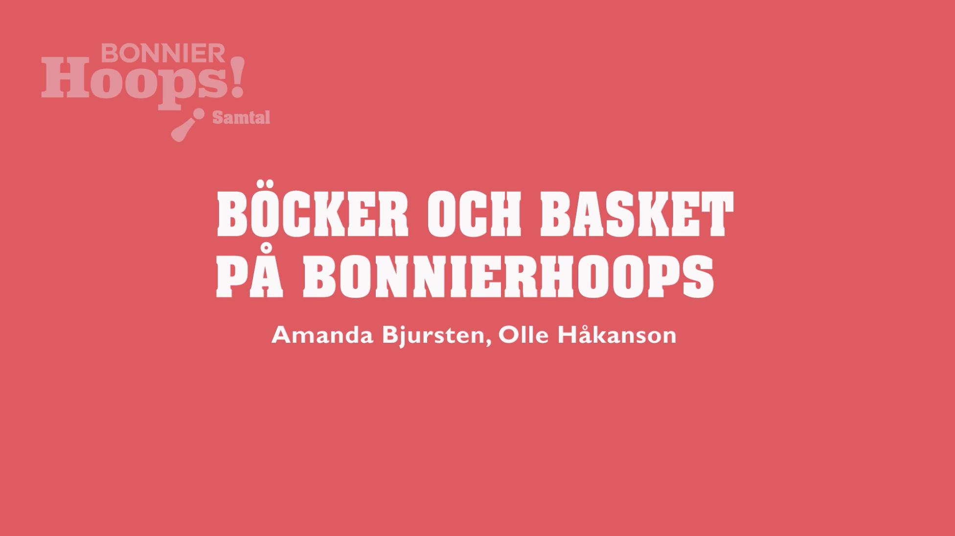 Böcker och basket på BonnierHoops